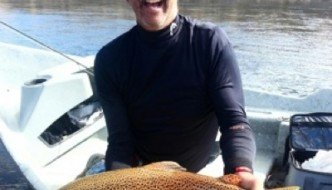 28 inch Brown on Green River