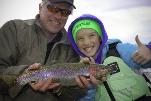 Winter fly fishing Bighorn River, Wyoming