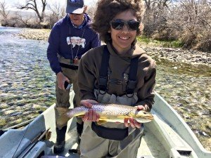 Johnny's nephew with a nice brown trout!