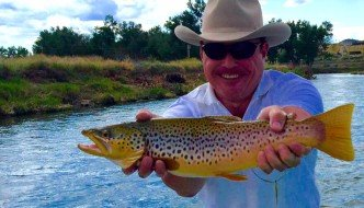 David with a beauty summer brown trout