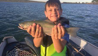 Dubois Wyoming Fishing Pete's Pond Stocked Kids' Fishing Day