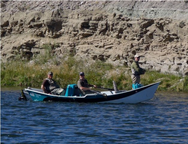 Drift Boat Fly Fishing Green River Fontenelle Wyoming